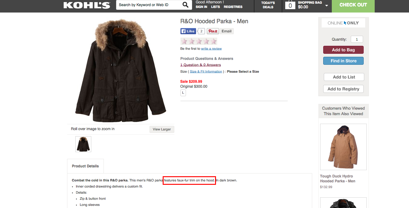 "Kohl's Apologizes For Selling ""Faux"" Fur-Lined Parka Made With Actual Fur"