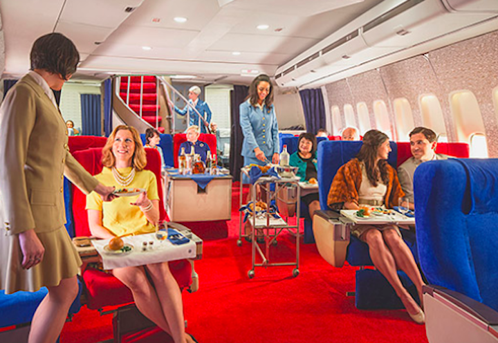 An airline themed film studio is offering consumers the chance to travel back to the '70s.