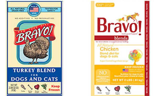These Bravo products are being recalled because they have the potential to be contaminated with Salmonella.