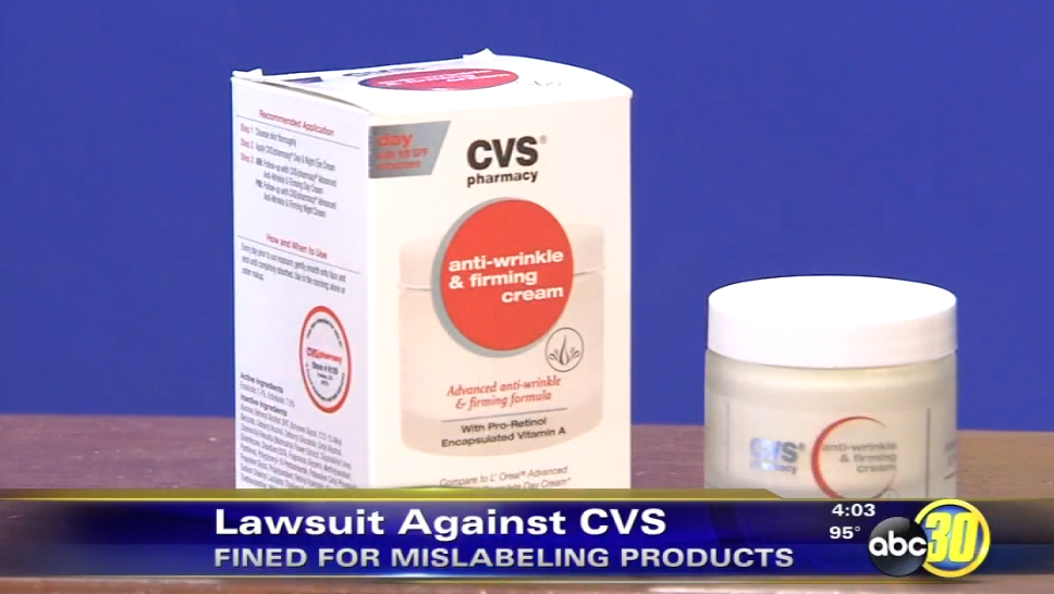Four California counties alleged that the packaging of CVS products like this anti-wrinkle cream misled shoppers into thinking they were getting much more than what was inside.