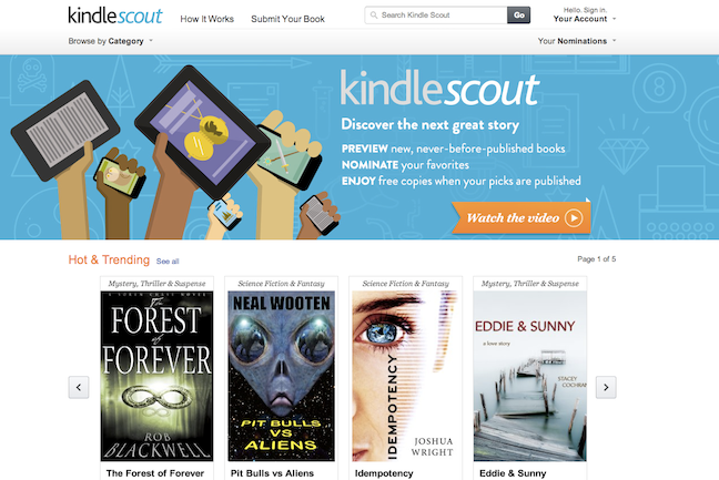 Amazon launched Kindle Scout, a program that allows readers to chose which up-and-coming authors get published.