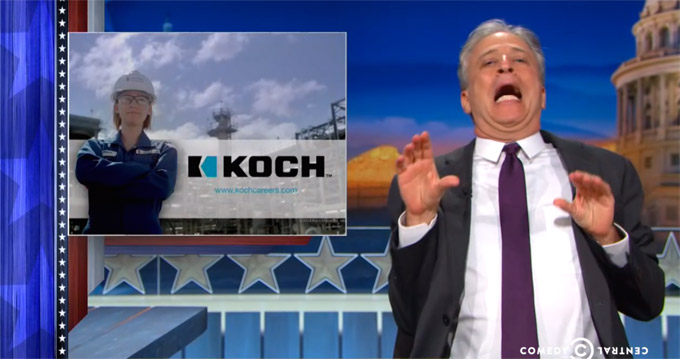'The Daily Show' Rewrites Koch Industries Commercial That Runs During Show