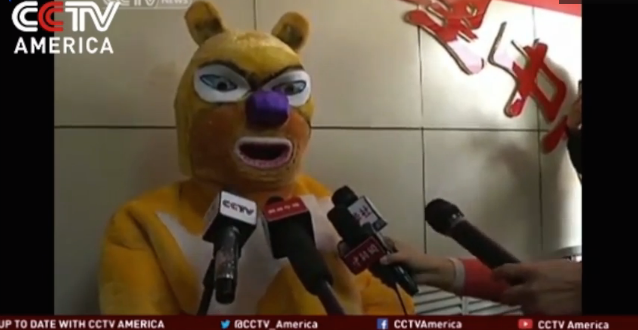 Lottery Winner Wears A Bright Yellow Bear Costume To Collect $85M Reward, As One Does