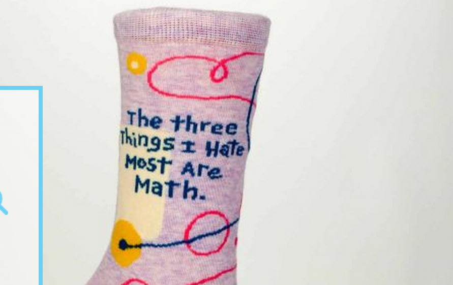 The math-hating socks at the heart of this story.