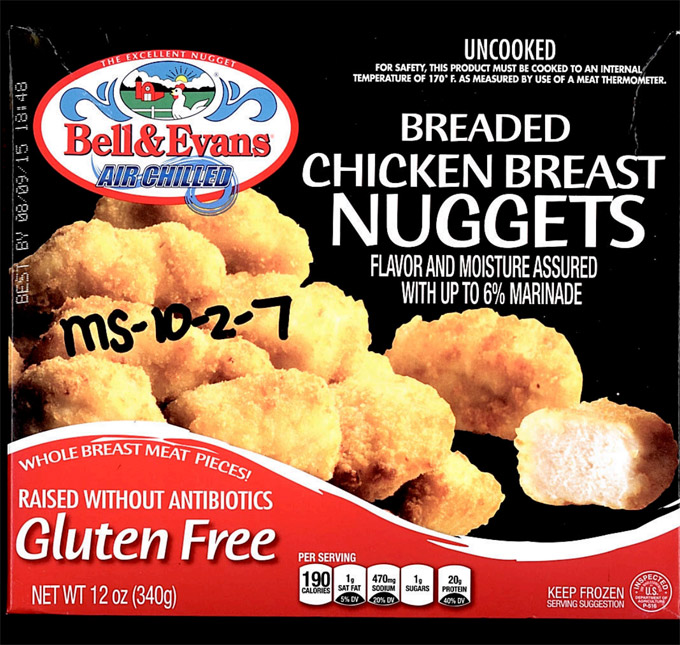 31,600 Pounds Of Gluten-Free Chicken Nuggets Recalled For Staphylococcal Enterotoxin