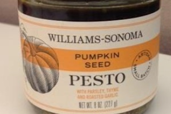 The Pumpkin Seed Pesto sold at Williams-Sonoma has been recalled for possible botulism contamination. Don't worry other pumpkin products aren't affected.