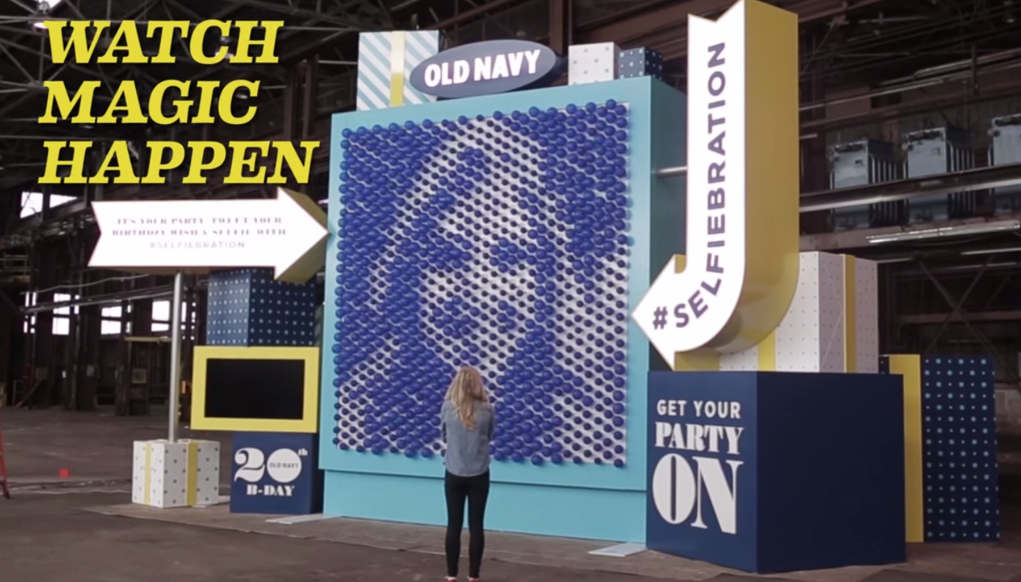 Old Navy Celebrating Birthday By Rendering Selfies In Balloons For Some Reason