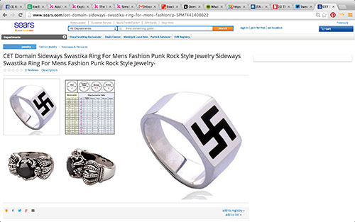 Sears Apologizes For Selling Swastika Rings In Online Marketplace