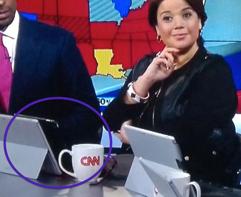 CNN Shows That Microsoft Surface Makes Great $799 iPad Stand