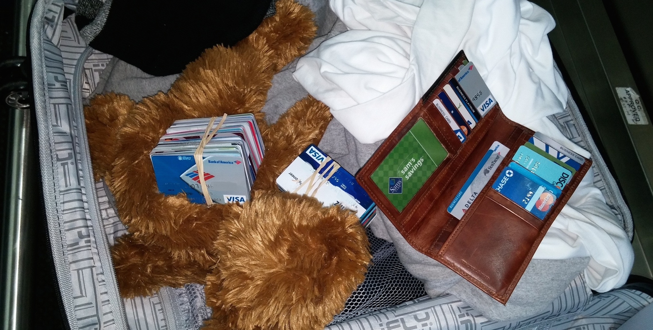 Boston TSA Agents Find Dozens Of Credit Cards Under Different Names Stuffed Inside Teddy Bear