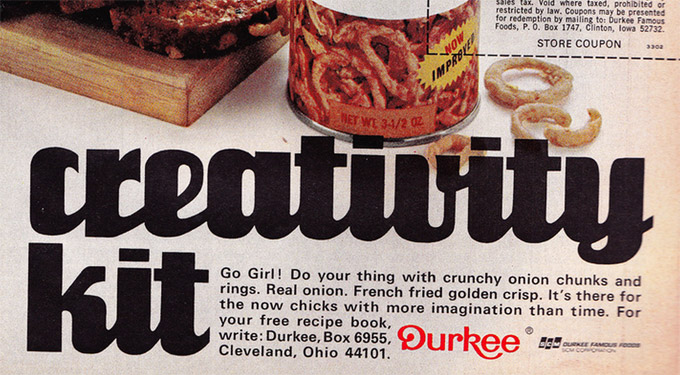This Is The Can Of Fried Onions For Today's Creative Modern Woman