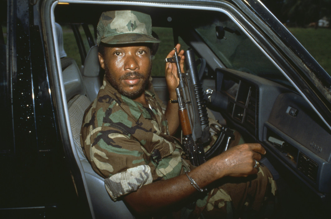 "Frontline and Pro Publica's ""Firestone and the Warlord"" investigates the secret relationship between the American tire company and the infamous Liberian warlord/president/mass-murderer Charles Taylor (pictured). [Photo Credit: © Patrick Robert/Sygma/Corbis]"