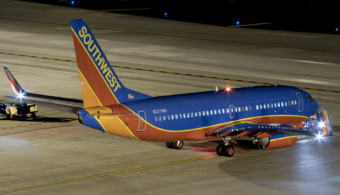 Southwest Passengers Removed From Plane After Engine Catches Fire