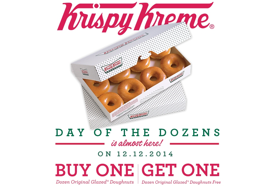 "Krispy Kreme Celebrates ""Day Of The Dozens"" With Glazed Doughnut BOGO Deal"