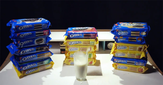 One Person Tests 18 Different Oreo Flavors, Somehow Survives