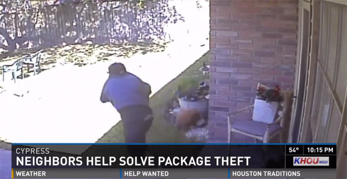 Homeowner Posts Surveillance Video To Facebook, Finds Alleged Package Thief