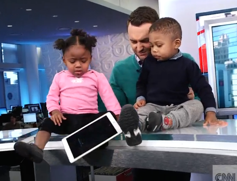 Toddlers Try And Fail To Destroy A New iPad