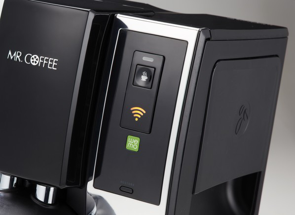 Yes, that's a wifi symbol on a coffee machine.