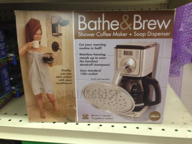 Really for sale, but not really a coffee maker for the shower.