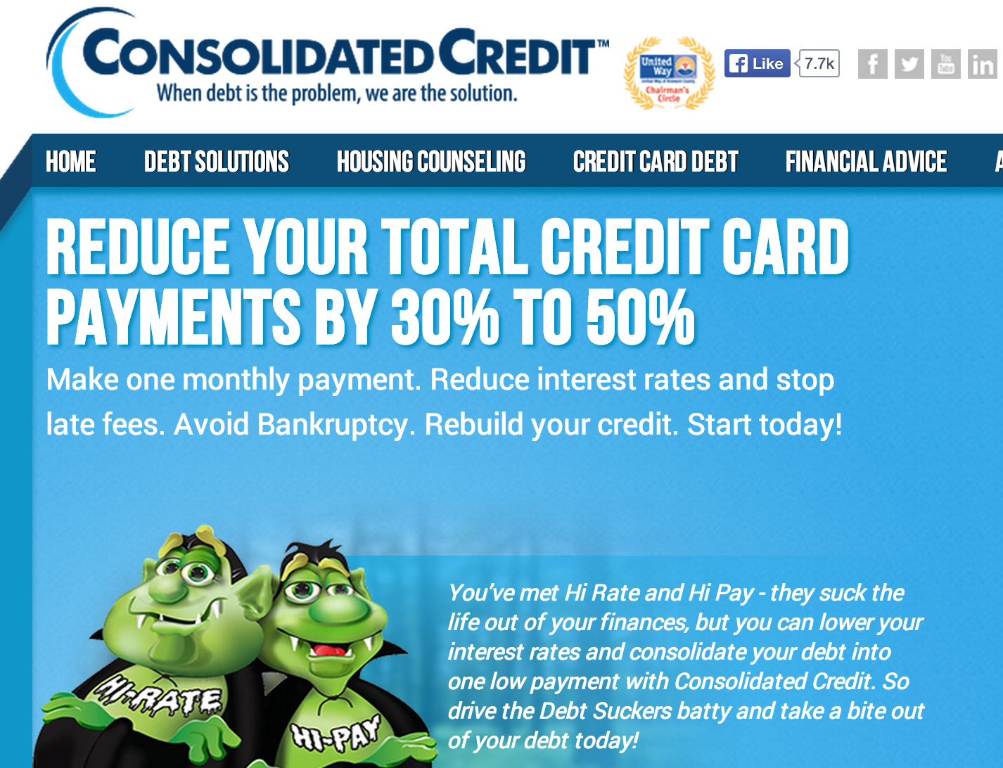 Consolidation service credit card consolidating debt