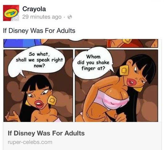 Crayola Apologizes After Hackers Post NSFW Pics To Kid-Friendly Facebook Page