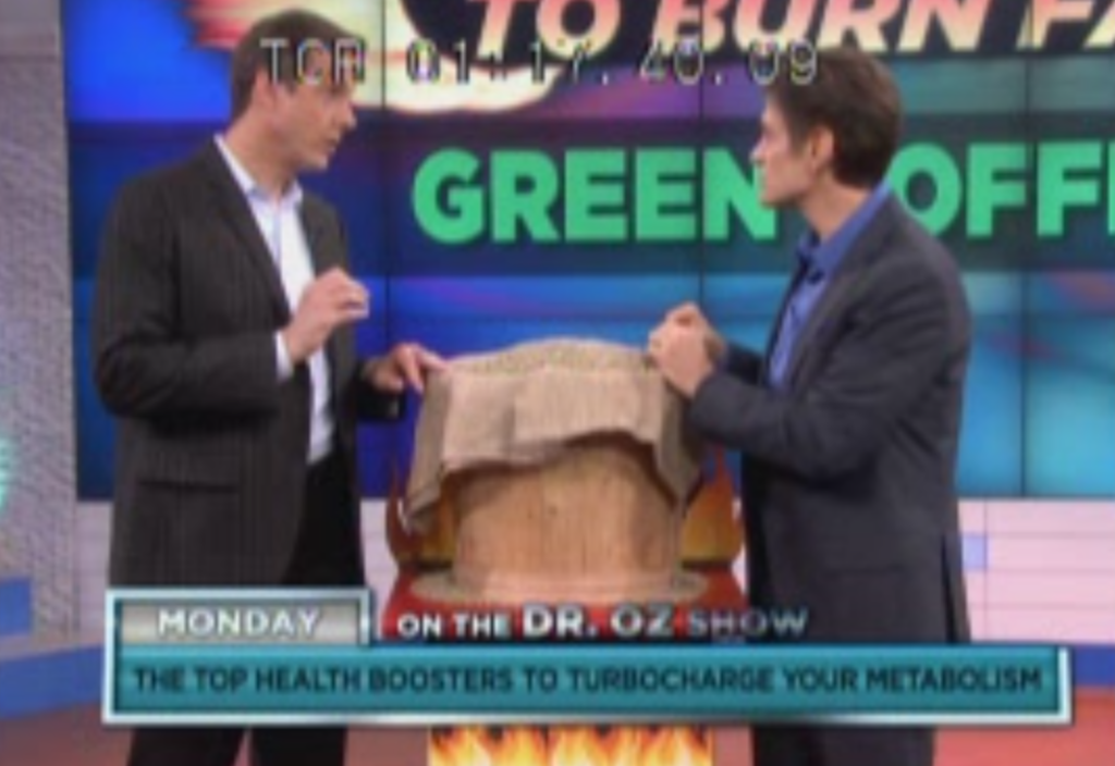 Duncan, appeared on the Dr. Oz show to talk up the disputed benefits of green coffee bean extract. The host of the show called it a miracle weight-loss cure for all body types, and that you could lose significant amounts of weight without doing anything.
