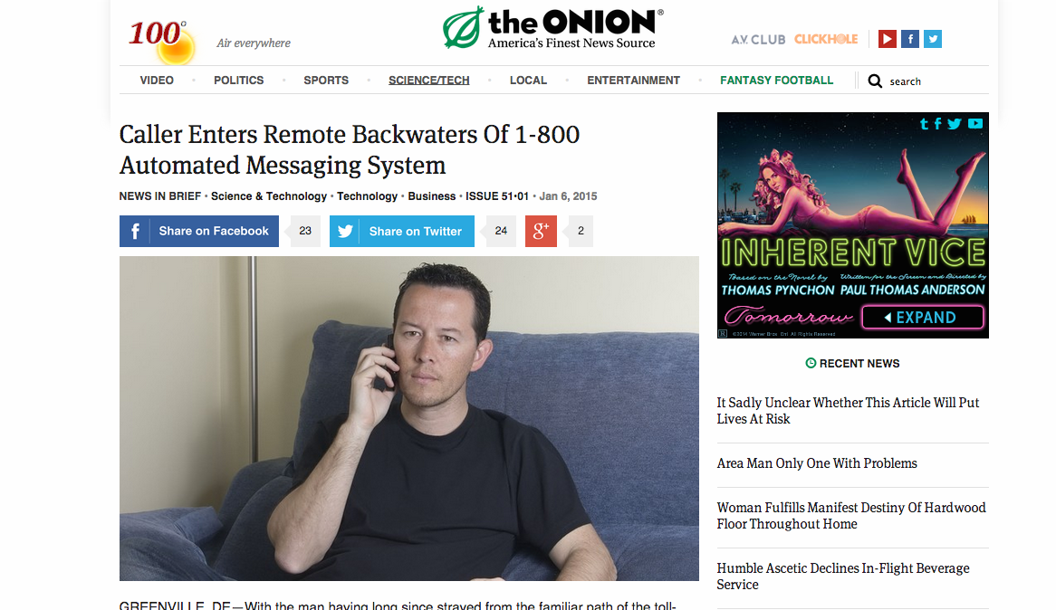 The Onion Accidentally Publishes An Actual News Story Consumerist