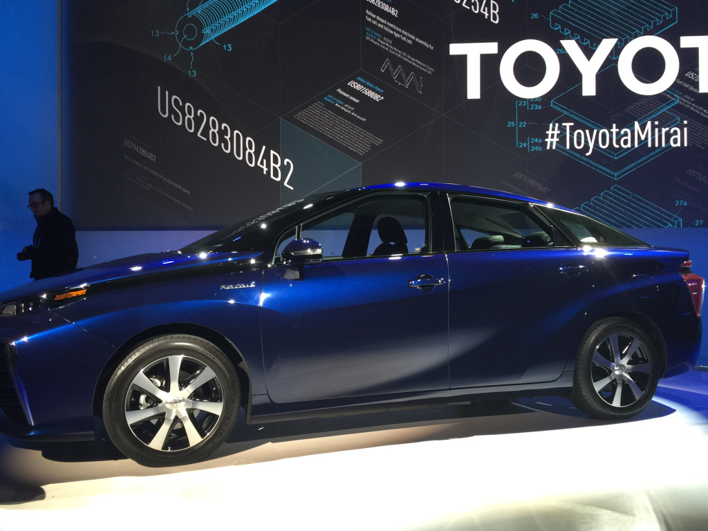 Toyota announced the Mirai will be available for purchase in the U.S. this fall.
