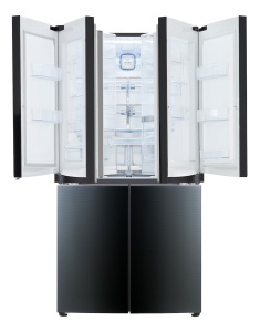 The LG Door-in-Door refrigerator claims to reduce loss of cold air when opening the doors.