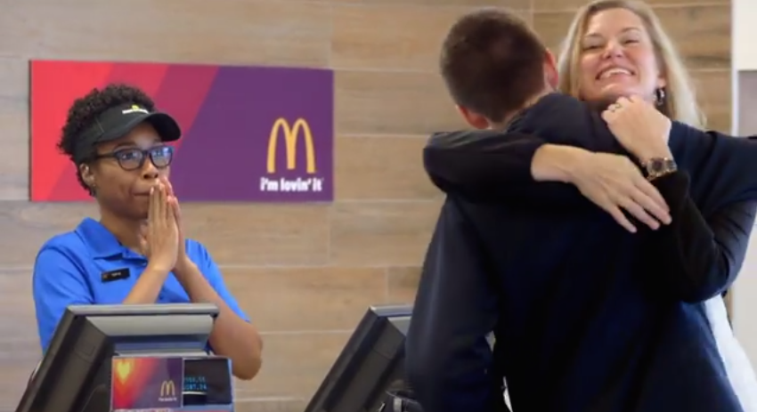 McDonald's Will Allow Some Customers To Pay With Selfies, Hugs & High Fives Next Week