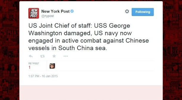 The U.S. Is Not At War With China: Hacked NY Post, UPI Twitter Accounts Post Fake News