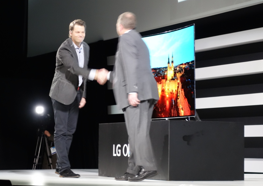 Netflix announcing the Recommended TV program at the LG press conference earlier today.