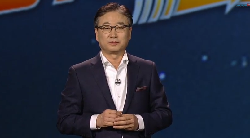 Samsung president and CEO BK Yoon presented the keynote for CES 2015.