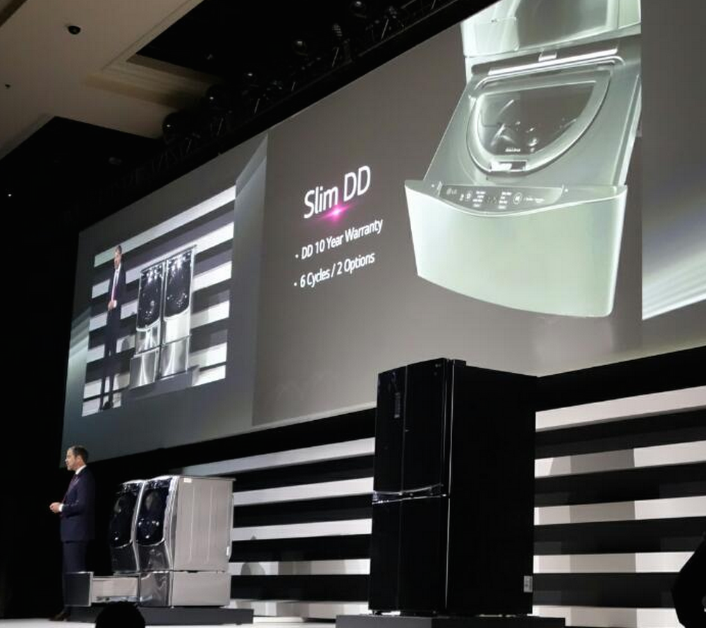 LG Figures Out What To Do With Washing Machine Pedestals — Put A Small Washer In Them