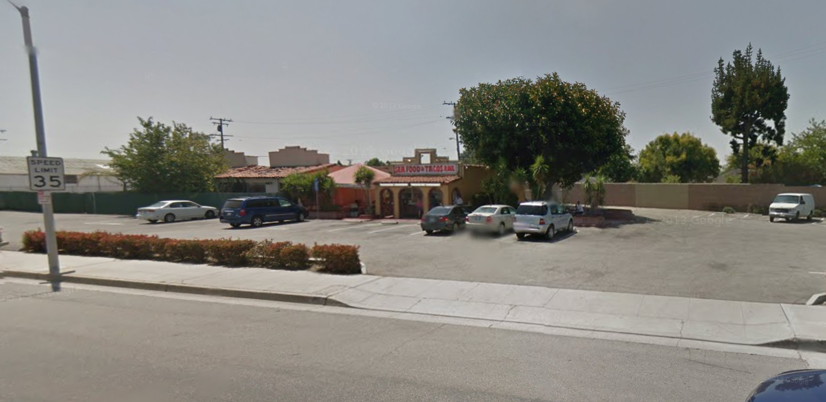 The original Taco Bell building on Firestone Blvd. in Downey, CA. The Seafood and Tacos Raul restaurant that had been located here closed in December and local preservationists believe it may be headed for demolition.