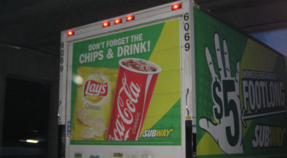Even Subway's trucks try to upsell consumers. (photo: Catastrophe Girl)