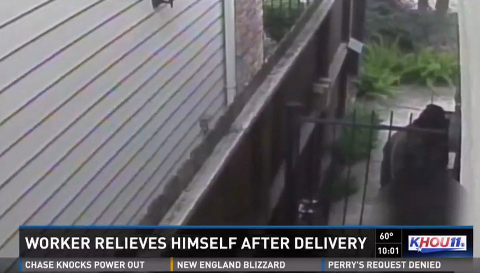 UPS Sorry About That Driver Who Peed On House After Throwing Package