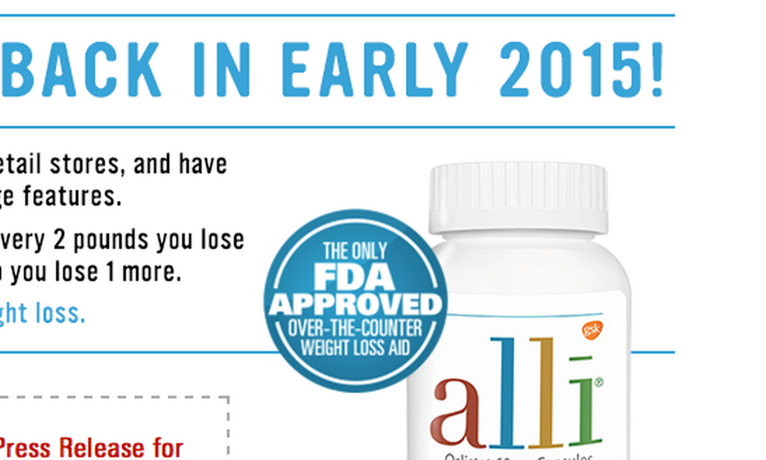 Nearly A Year After Recall Alli Weight Loss Pills Return To Stores