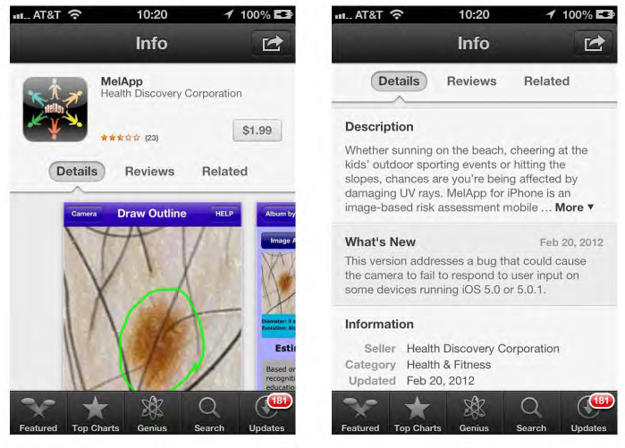 MelApp is one of two melanoma detection apps that came under scrutiny by the FTC.