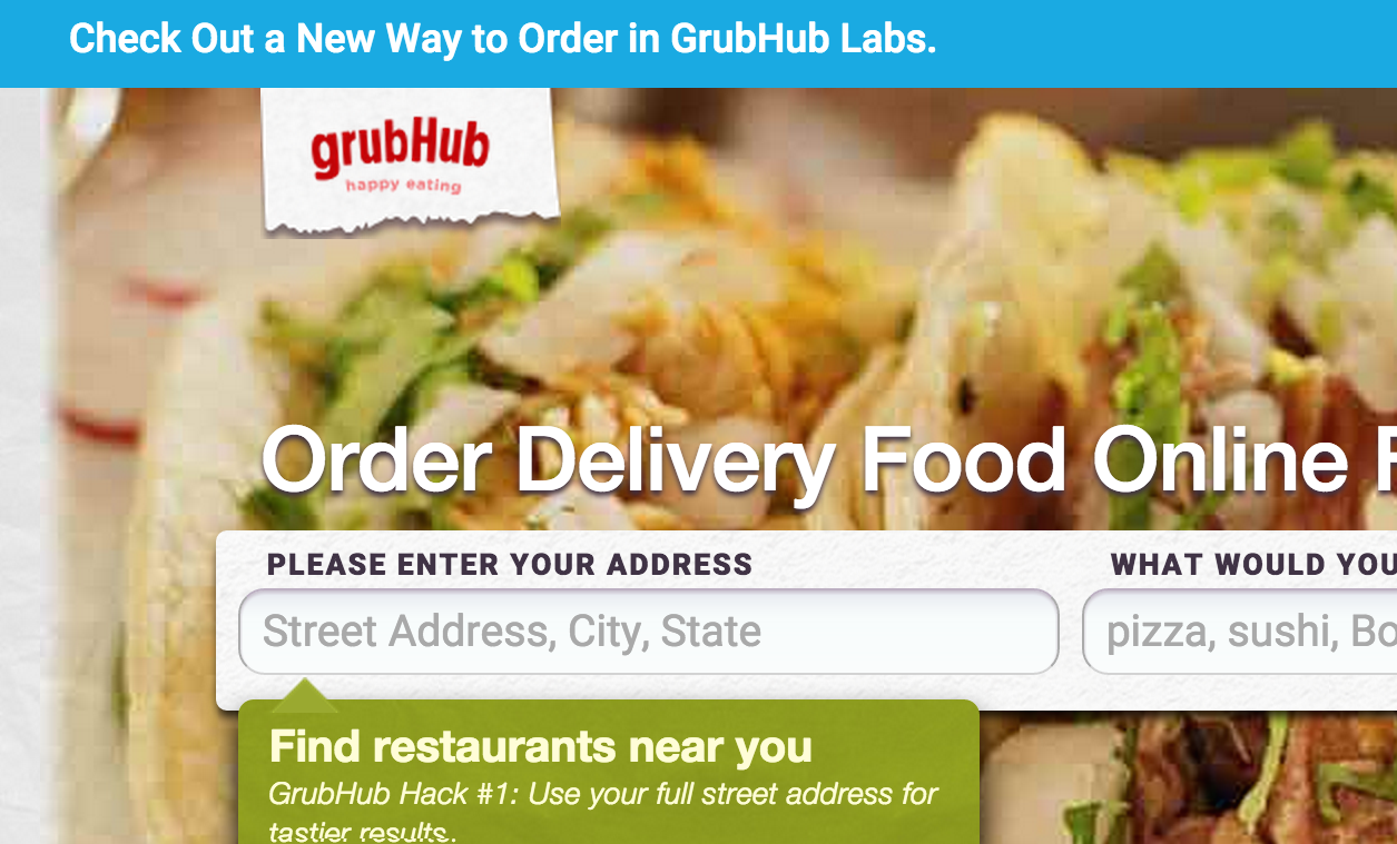 GrubHub Now Also Wants To Deliver Food To Your Door