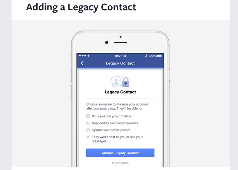 Facebook Adds Features To Let Users Control What Happens To Accounts After Death