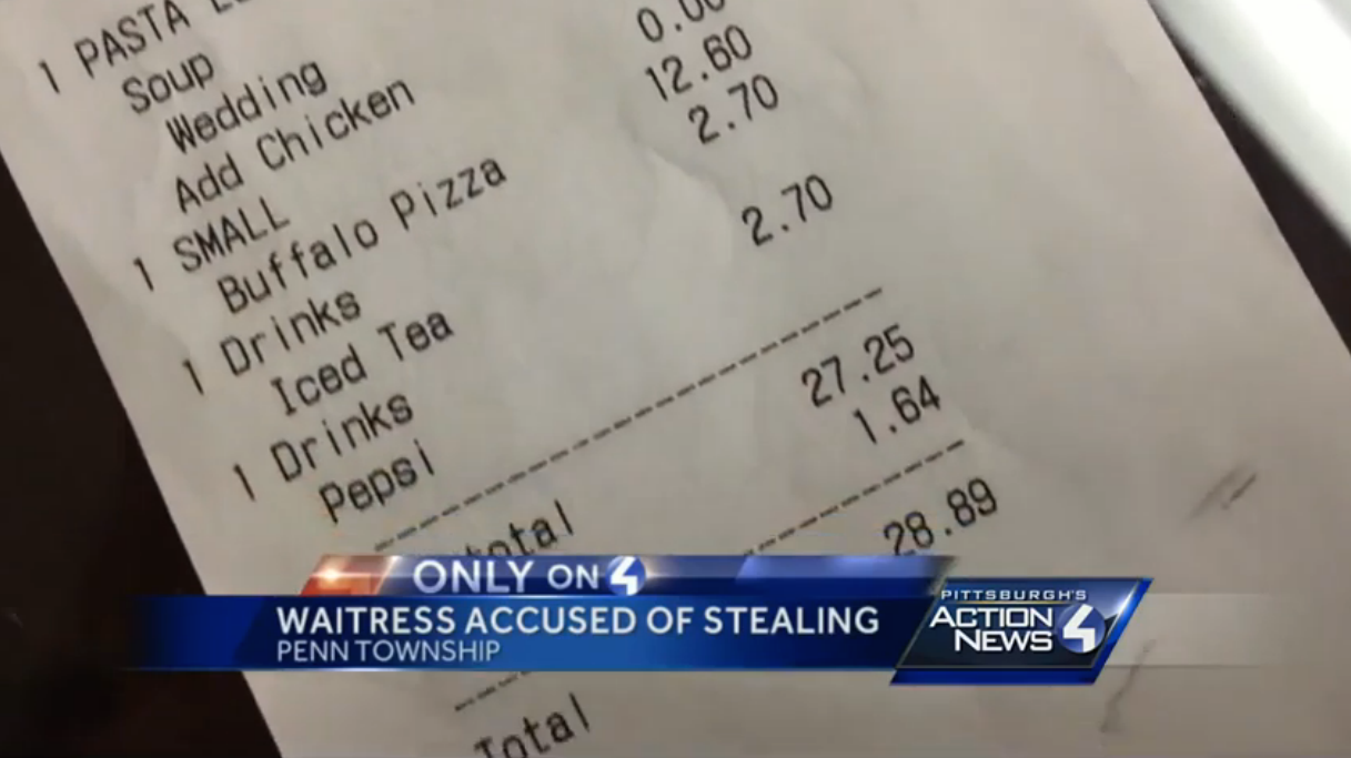 Waitress Caught Editing Customers' Tips To Add $10 Or $20 For Herself