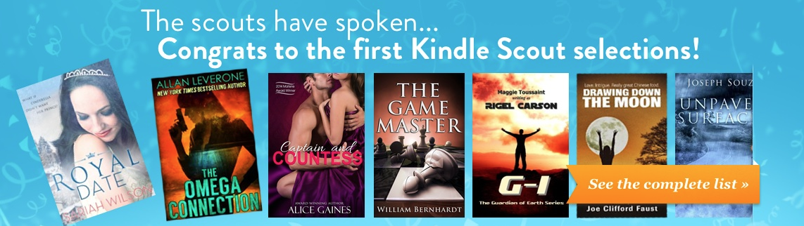 The first 10 books chosen through Amazon's Kindle Scout platform will released next week.