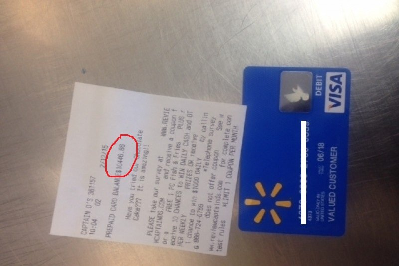 Walmart Claims That There Is No Way This Card Found By A Man Working At