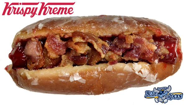 Delaware's minor league baseball team debuted a doughnut-hotdog hybrid today.