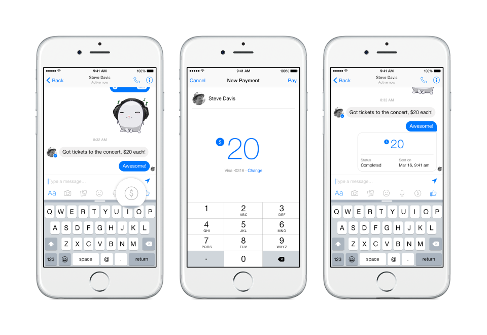 Facebook Launches Payments System For Messenger App Users