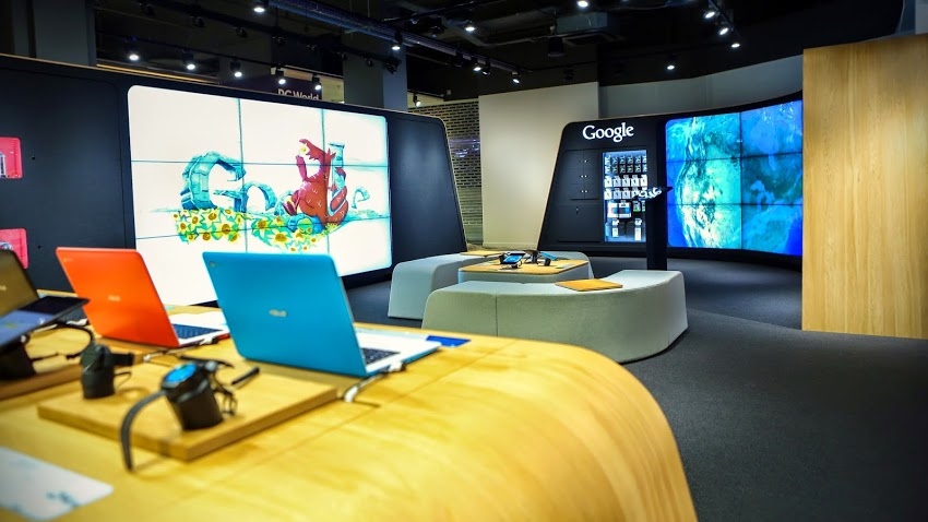 Google opened its first branded retail store in London today.