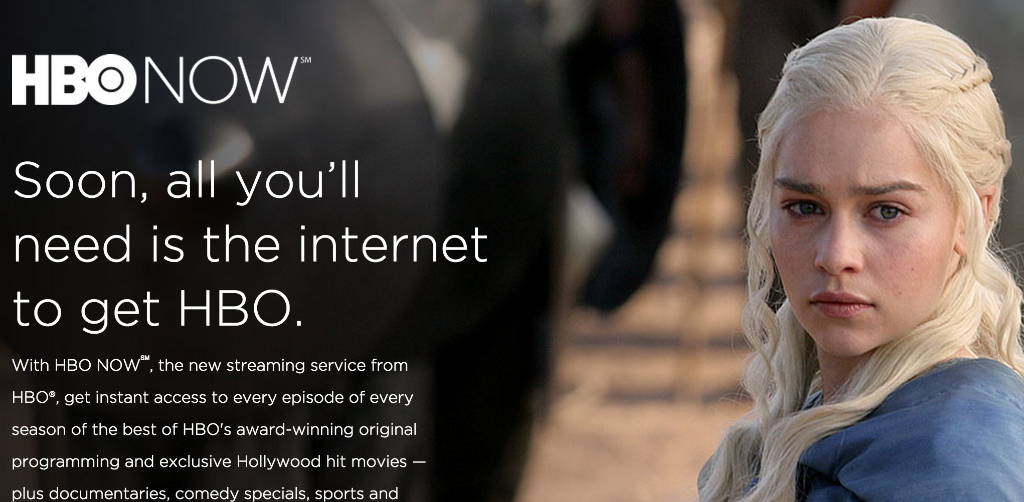 Cablevision Will Also Offer HBO Now Streaming Service
