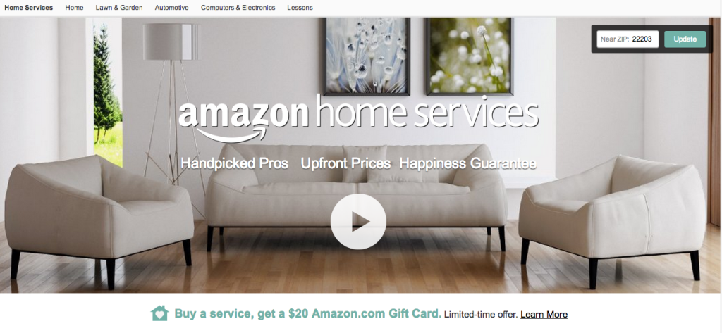 Amazon launched its Home Services program connecting consumers to service providers to install and fix their purchases.