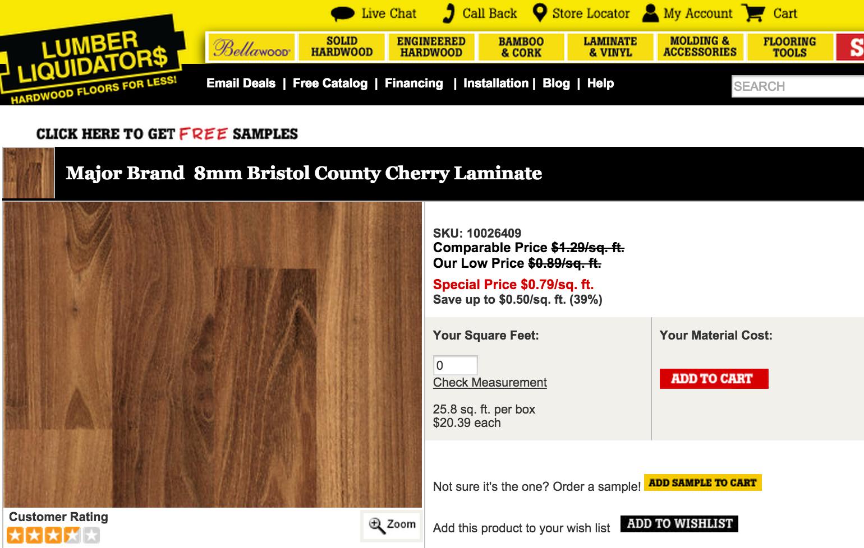 Lumber Liquidators To Pay California 2 5m For Having Too Much Formaldehyde In Its Flooring Consumerist